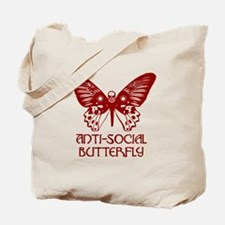 Funny Anti butterfly Tote Bag
