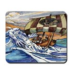 Norse God of the Sea Mousepad