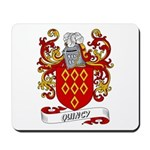 Quincy Coat of Arms Mousepad