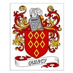 Quincy Coat of Arms Small Poster