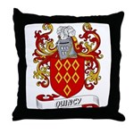 Quincy Coat of Arms Throw Pillow
