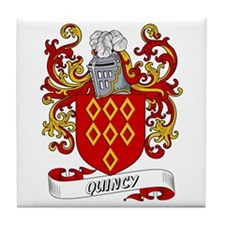 Quincy Coat of Arms Tile Coaster