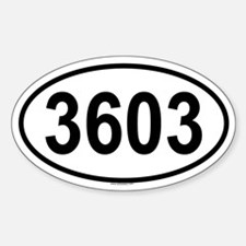 3603 Oval Decal