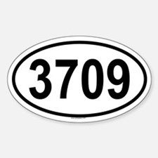 3709 Oval Decal