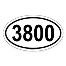 3800 Oval Decal