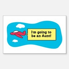 I'm Going to be an Aunt! Rectangle Decal