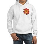 Coral Red Daylily Hooded Sweatshirt