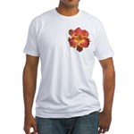 Coral Red Daylily Fitted T-Shirt