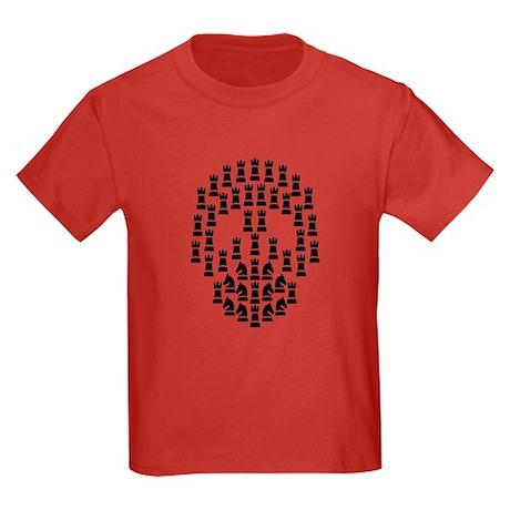 Chess Skull Kids Dark T-Shirt