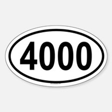 4000 Oval Decal
