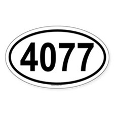 4077 Oval Decal
