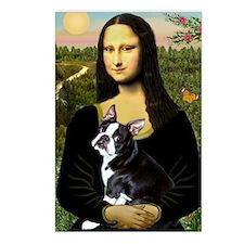 Mona Lisa (new) & Boston Terrier Postcards (eight)