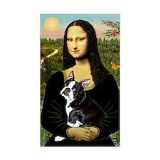 Mona Lisa (new) & Boston Terrier Sticker (Rectangu