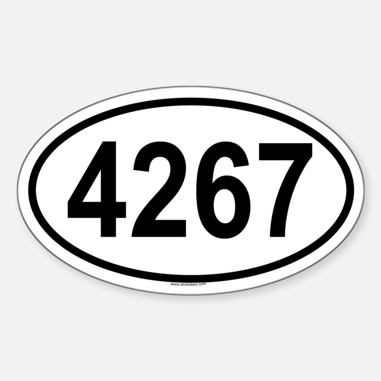 4267 Oval Decal