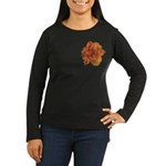 Coral Double Daylily Women's Long Sleeve Dark T-Sh