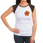 Coral Double Daylily Women's Cap Sleeve T-Shirt