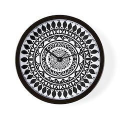 Hindu Folk Art Wall Clock