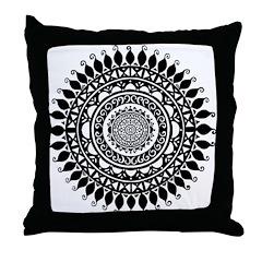 Hindu Folk Art Throw Pillow