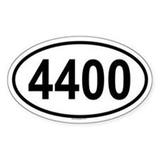 4400 Oval Decal