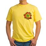 Pink w/ Green Edge Daylily Yellow T-Shirt