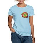 Pink w/ Green Edge Daylily Women's Light T-Shirt