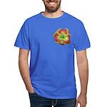 Pink w/ Green Edge Daylily Dark T-Shirt