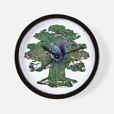 Squirrel Tree Wall Clock