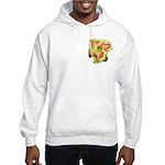 Pink w/ Ruffles Daylily Hooded Sweatshirt