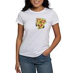 Pink w/ Ruffles Daylily Women's T-Shirt