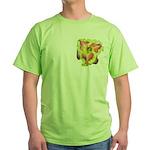Pink w/ Ruffles Daylily Green T-Shirt
