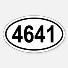 4641 Oval Decal