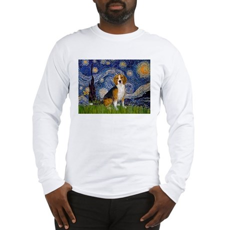 Starry Night & Beagle Long Sleeve T-Shirt