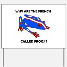 FRENCH FROG Yard Sign