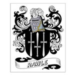 Rawle Coat of Arms Small Poster