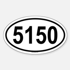 5150 Oval Decal