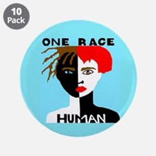 """Anti-Racism 3.5"""" Button (10 pack)"""