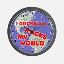 Arabella Rocks My World (Red) Wall Clock