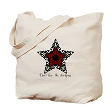 Red Stained Glass Star Tote Bag