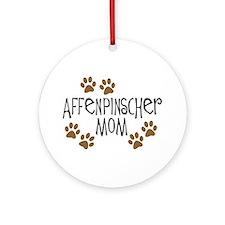 Affenpinscher Mom Ornament (Round)
