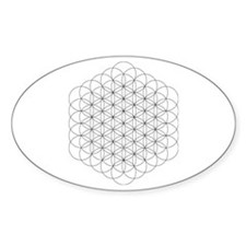 Flower of Life Oval Stickers