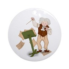Beethoven Conducting Music Round Ornament