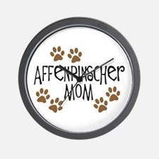 Affenpinscher Mom Wall Clock