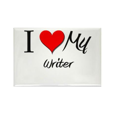 I Heart My Writer Rectangle Magnet (10 pack)