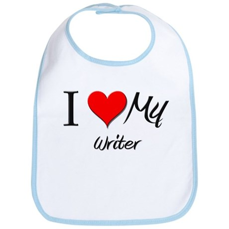 I Heart My Writer Bib
