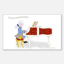 Practice Maintains Perfect Mozart Piano Decal