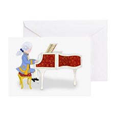 Young Mozart Playing the Piano Greeting Card