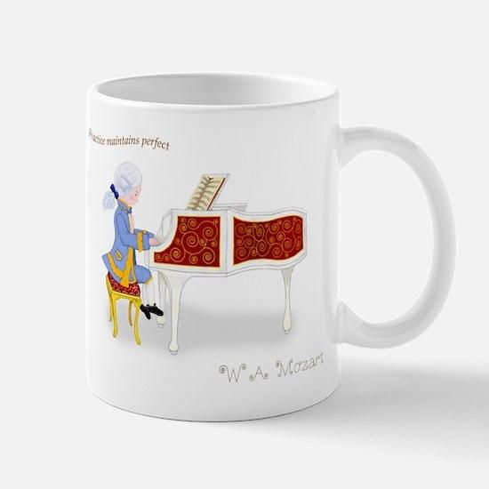 Practice Maintains Perfect Mozart Piano Mug