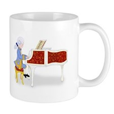 Young Mozart Child Prodigy Playing the Piano Small Mug