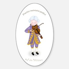 Practice Maintains Perfect Violin Oval Decal
