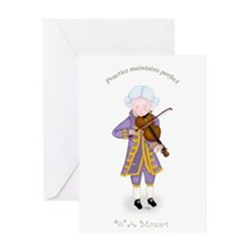 Practice Maintains Perfect Violin Greeting Card